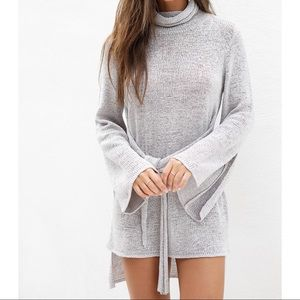 Sabo Skirt Asher Dress Tie Front Sweater Dress xs